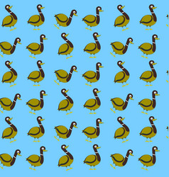 Seamless pattern with wild duck vector