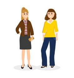 women young girlfriends communicate vector image
