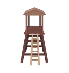 Observation tower for huntersafrican safari vector