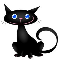 Cute black cat vector