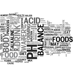 Is there a universal diet for proper body balance vector