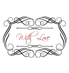 Love header vector