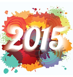 2015 new year paint splat colorful background vector