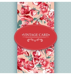 Elegance vintage floral card with roses vector