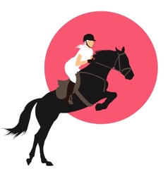 Equestrian sports design vector