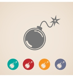 Set of bomb icons vector