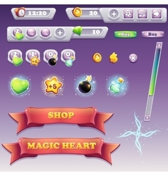 Big set of interface elements for computer games vector