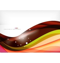 Rainbow orange red brown line design vector