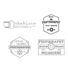 Photographer badges and labels in vintage style vector