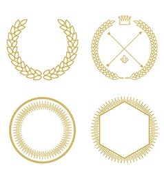 Set of outline emblems and badges - abstract vector