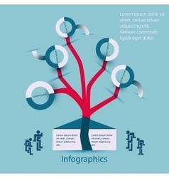 Infographics family-family tree vector image