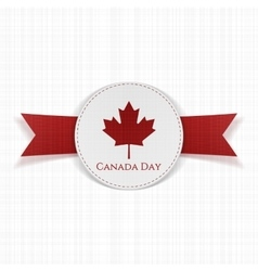 Canada day greeting red label vector