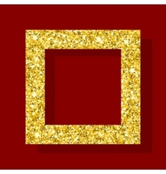 golden figure square frame vector image