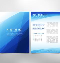 Abstract presentation brochure vector
