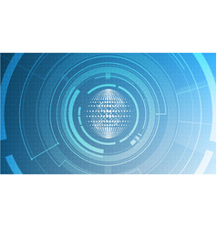 abstract technological global signal radar vector image vector image