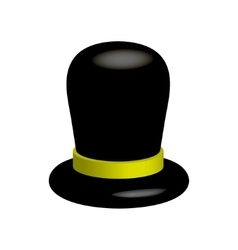 Black hat on a white background vector image