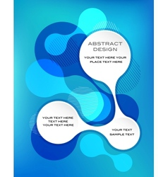 blue abstract template vector image vector image