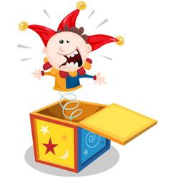 Cartoon jack in the box vector