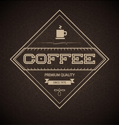 Coffee Label for restaurant vector image vector image