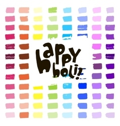 Colorful artistic hand drawn Happy Holi card vector image