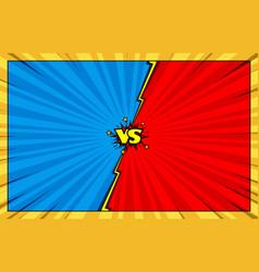 comic book versus battle background vector image vector image