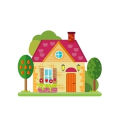 cute colorful house vector image vector image