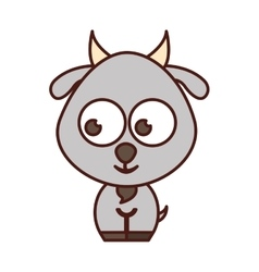 Cute goat tender character vector