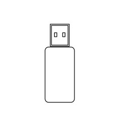 flash drive black color icon vector image vector image