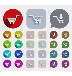 flat shopping icons set vector image