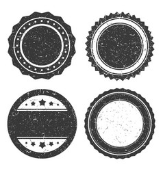 four different grunge badge template black vector image vector image