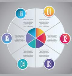 infographic presentation design vector image vector image