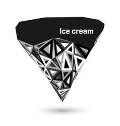 Low poly diamond vector