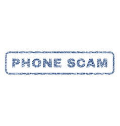 Phone scam textile stamp vector