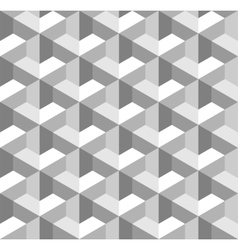 Seamless geometric pattern grayscale background vector