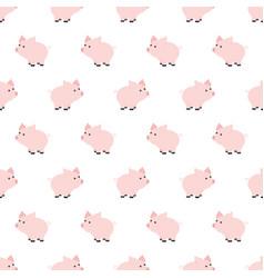 seamless pattern piggy art background design for vector image vector image