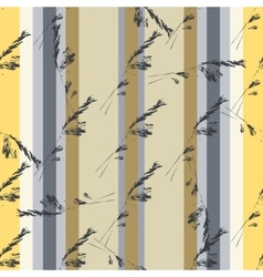 Seamless vertical pattern with meadow grass vector