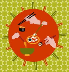 Set icons of chopsticks collection - vector image vector image