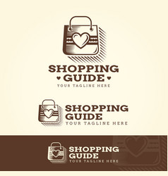 Shopping guide logotype vector