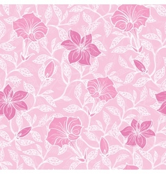 Soft pink lineart blossoms seamless pattern vector