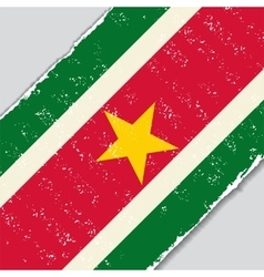 Surinamese grunge flag vector