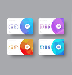 White gift card template with round and vector