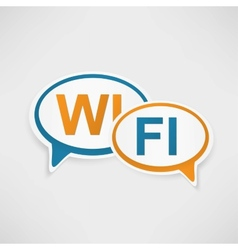WiFi Zone speech bubbles vector image