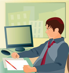 Working-in-the-office vector