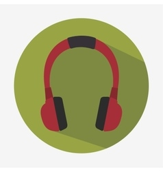 Headset hearphones sound icon vector