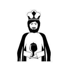 King chracter casino icon vector
