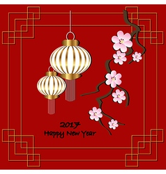 Red background for 2017 chinese new year vector