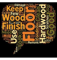 How to evaluate and care for hard wood floors text vector