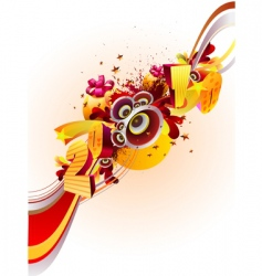 New Year's background vector image