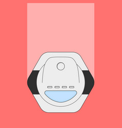 Vacuum cleaner robot vector