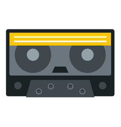 retro cassette tape icon isolated vector image